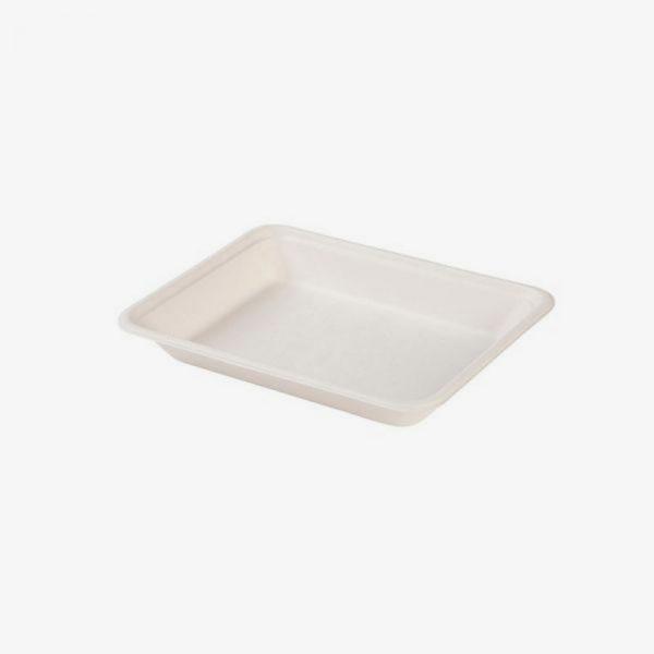 bandeja de bagazo rectangular (caña de azúcar)