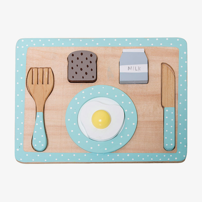 bandeja de desayuno de madera