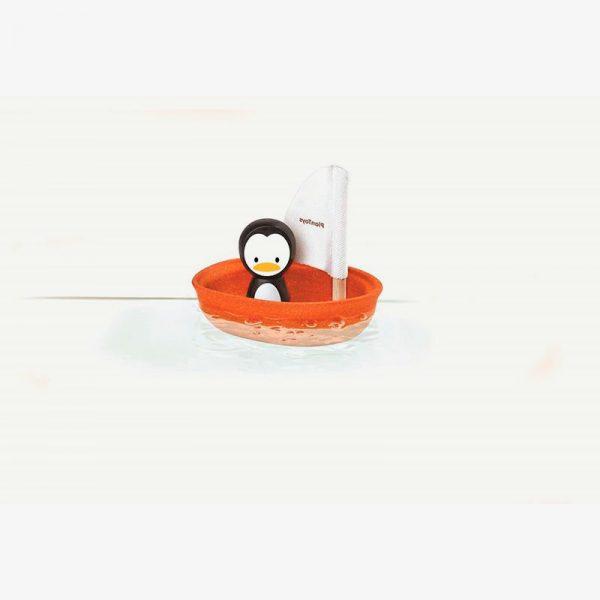 barquito pingüino para baño