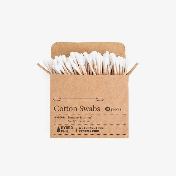 bastoncillos de algodón y bambú ecológicos