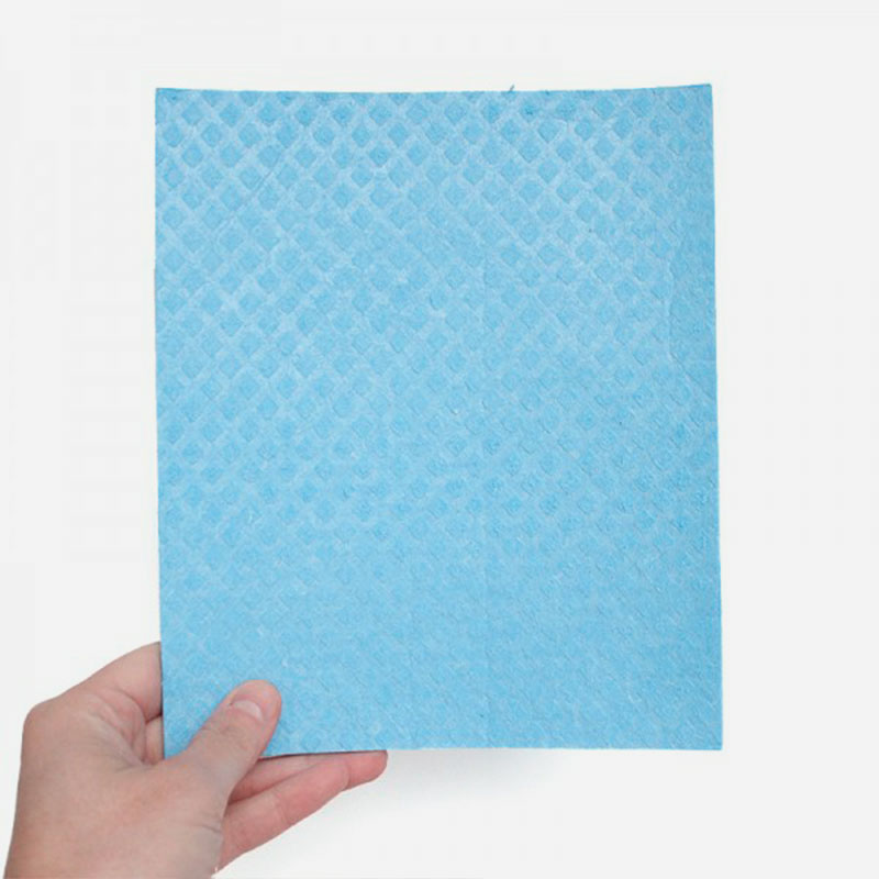 bayeta de algodón y celulosa 17x20 cm azul