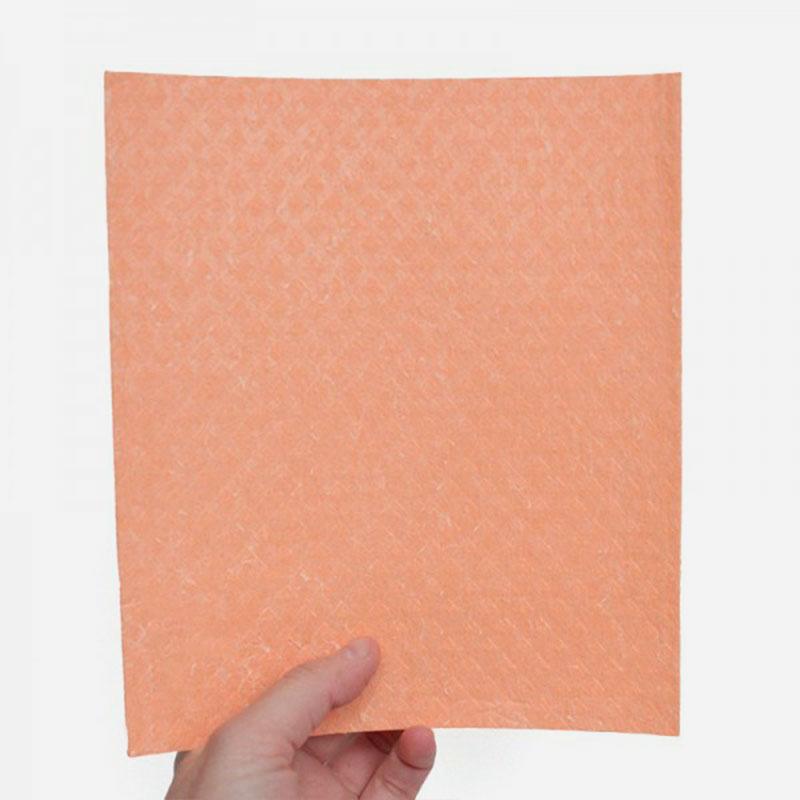 bayeta de algodón y celulosa 17x20 cm naranja