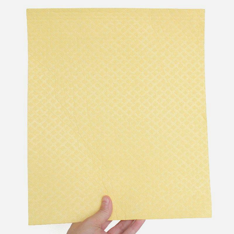 bayeta de algodón y celulosa 26x31 cm amarillo