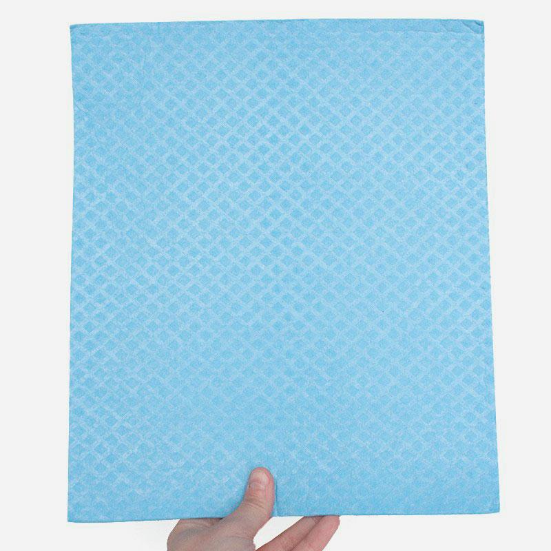 bayeta de algodón y celulosa 26x31 cm azul