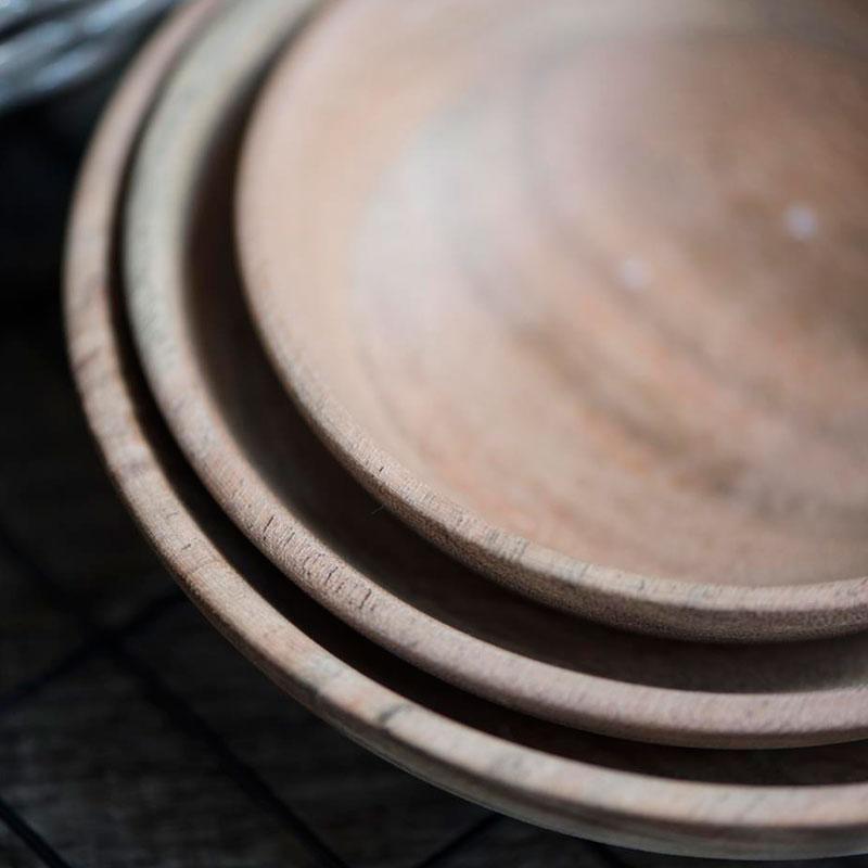 boles de madera de acacia - set de 3