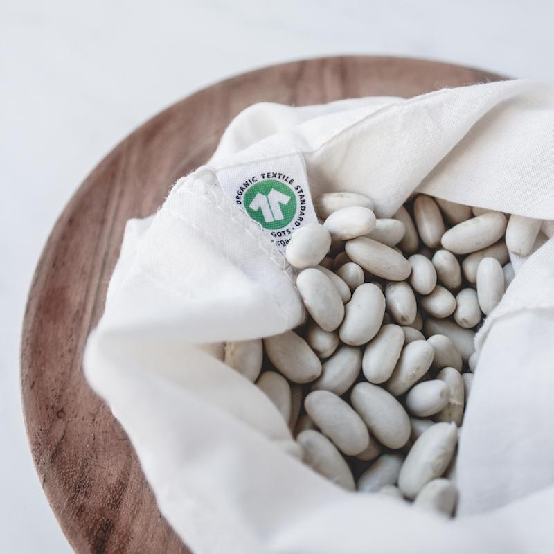 bolsa de algodón ecológico GOTS