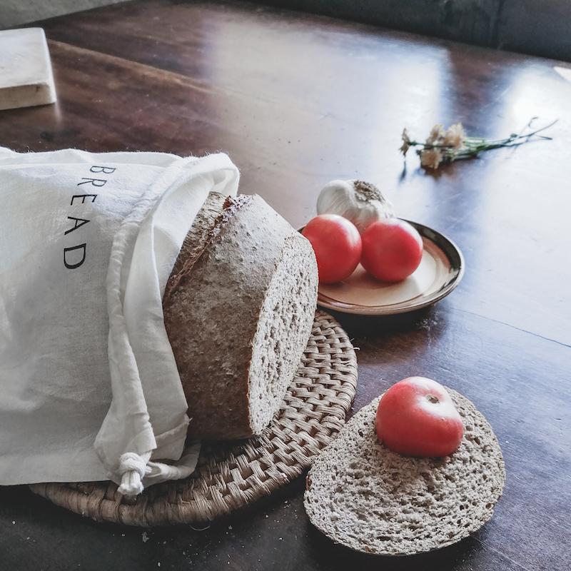 bolsa para el pan de algodon orgánico bread de mimook