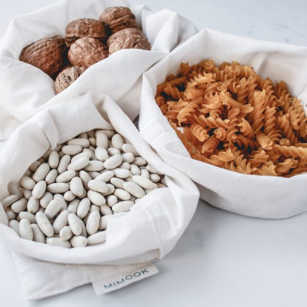bolsas de algodón fino para comprar a granel - pack de 3