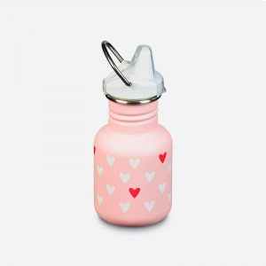 botella de acero inoxidable kid kanteen sippy hearts