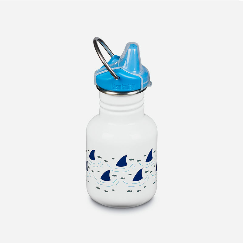 botella de acero inoxidable kid kanteen sippy sharks
