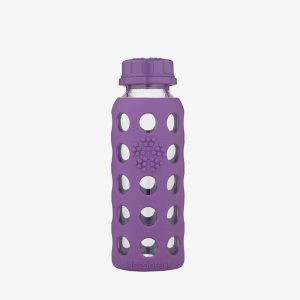 Botella de cristal Lifefactory 250 ml Flat Cap Grape