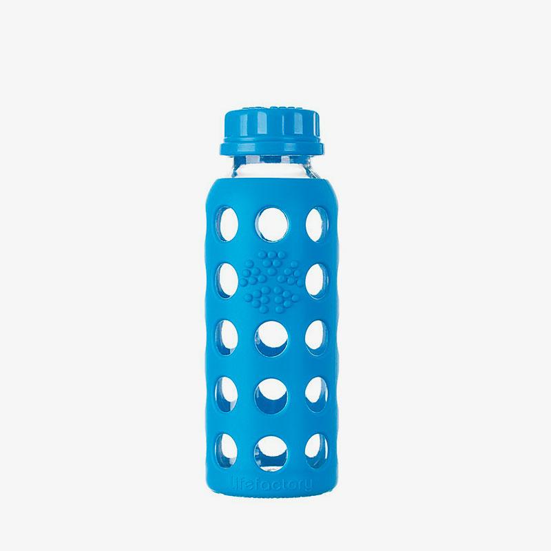 Botella de cristal Lifefactory 250 ml Flat Cap Ocean