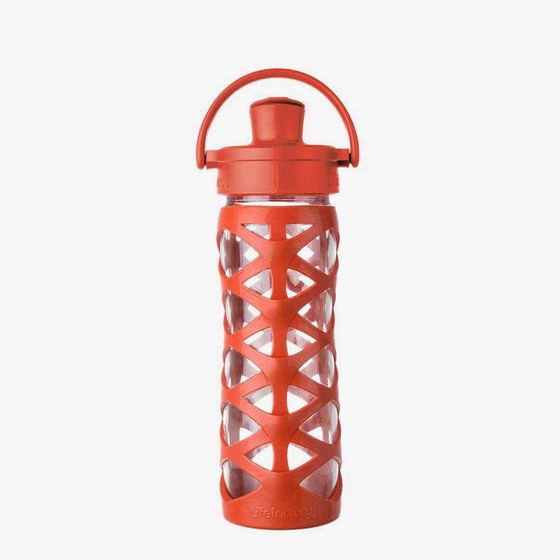 Botella de cristal Lifefactory 475 ml Active Flip Golden Gate