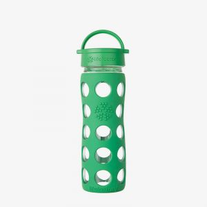 Botella de cristal Lifefactory 475 ml Classic Cap Grass Green