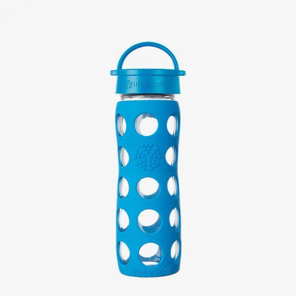 Botella de cristal Lifefactory 475 ml Classic Cap Ocean