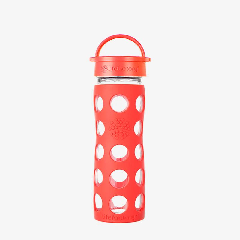 Botella de cristal Lifefactory 475 ml Classic Cap Poppy