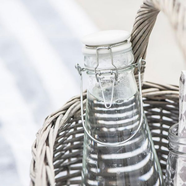 botella de cristal vintage 1 Litro