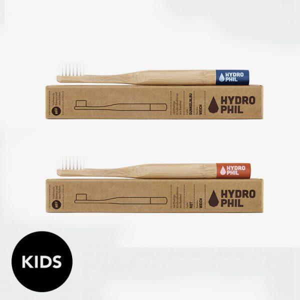 cepillo de dientes de bambú infantil Hydrophil