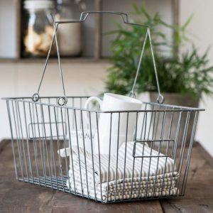 cesta de la compra metálica