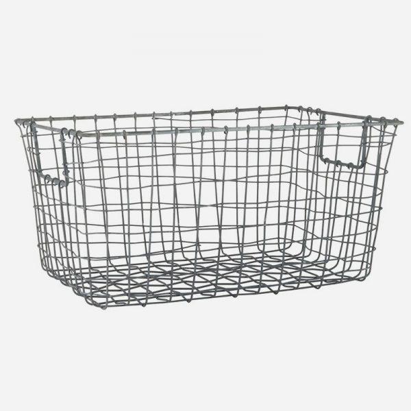 cesta metálica de alambre para almacenamiento