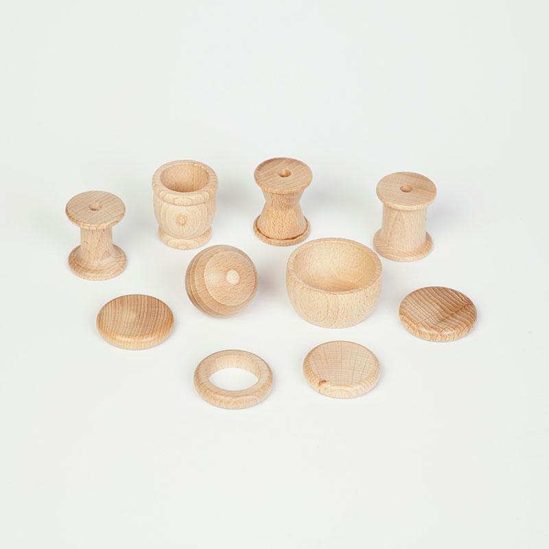 Cesta tesoros de madera 10 piezas mimook - Cestos de madera ...