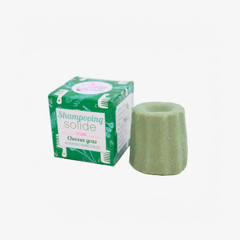 champú sólido para cabellos grasos de hierbas silvestres Lamazuna