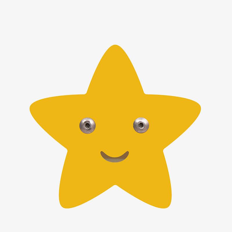 colgador infantil de acero estrella amarilla