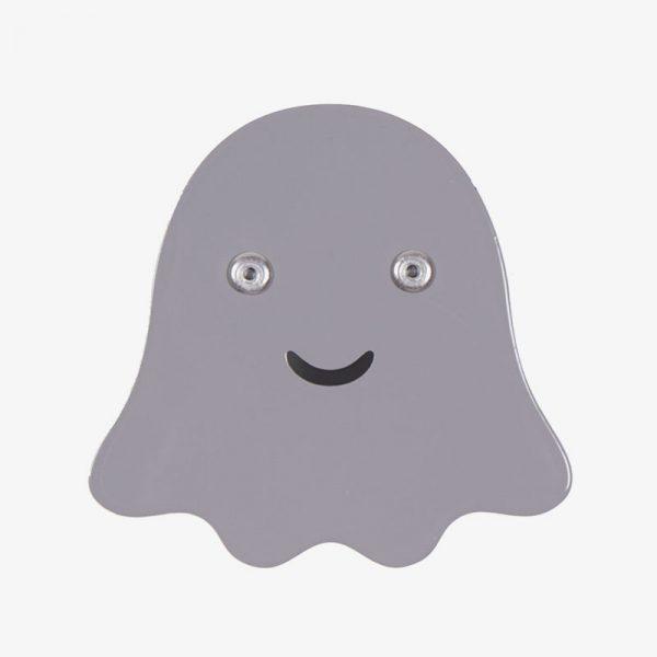colgador infantil de acero fantasma gris