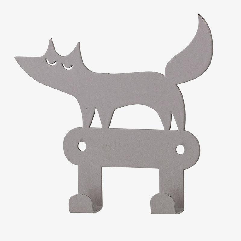 colgado doble lobo gris