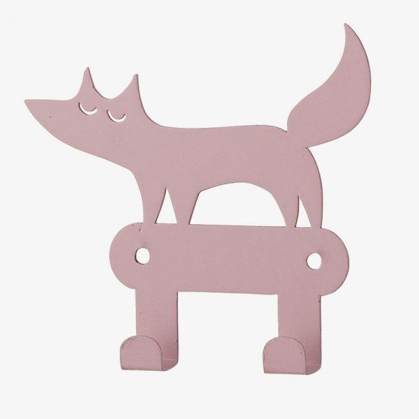 colgado doble lobo rosa