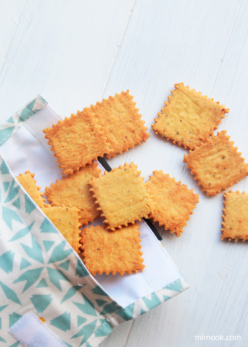 crackers de garbanzo en snack bag