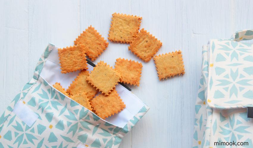 crackers de garbanzo en snack bag