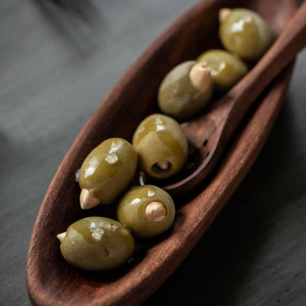 cuchara para olivas de acacia