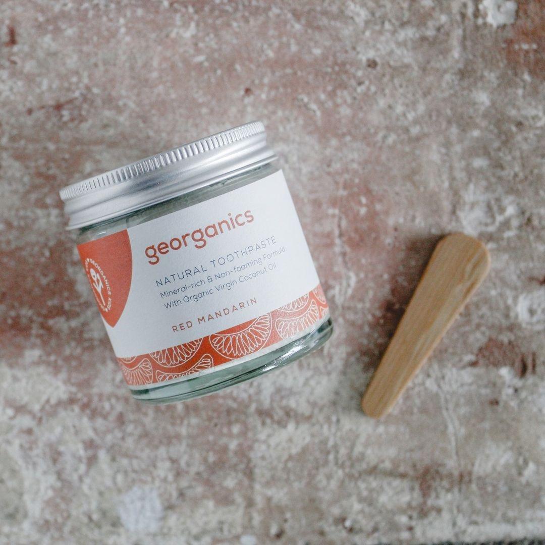 dentifrico con aceite de coco y naranja