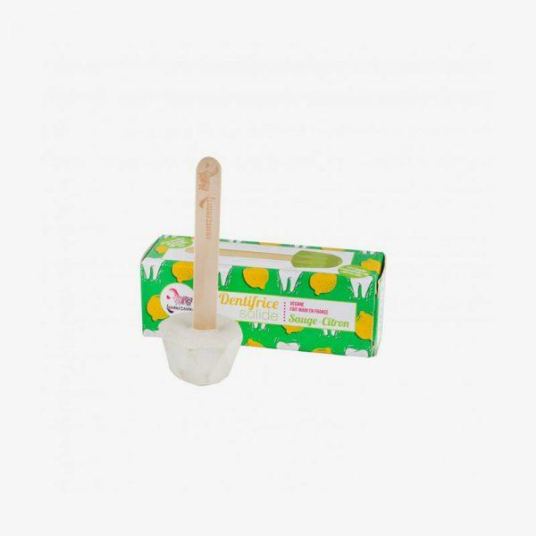 dentífrico sólido de salvia y limón de Lamazuna