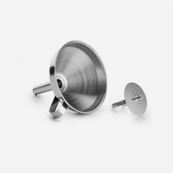 embudo de acero inoxidable con filtro