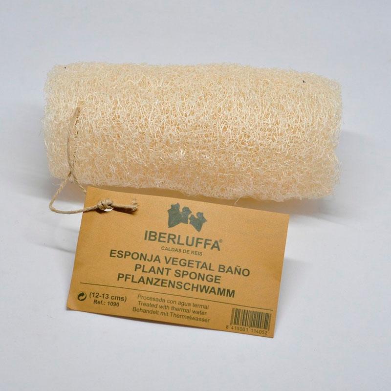 esponja vegetal de luffa para el baño