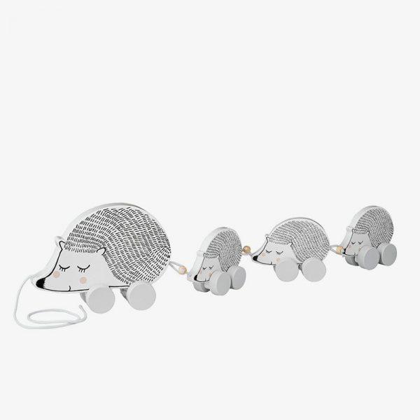 familia de erizos - juego de arrastre