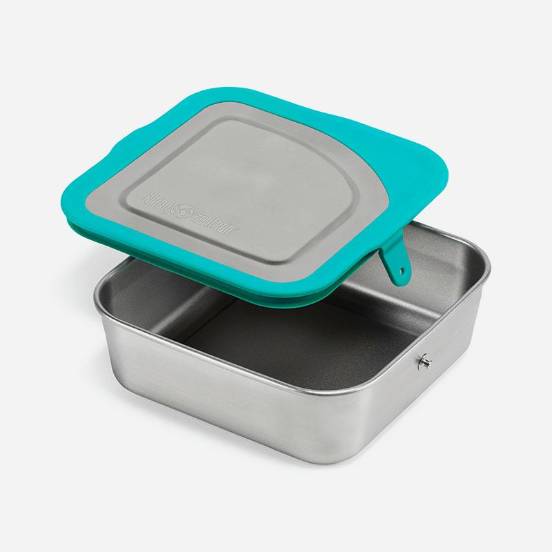 fiambrera de acero inoxidable y silicona lunch box