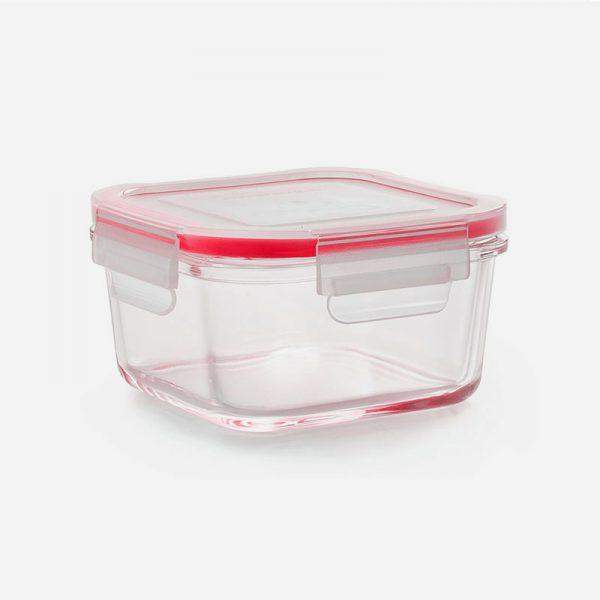 fiambrera de cristal cuadrada de 1000ml