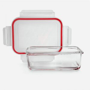 fiambrera de cristal rectangular de 1600ml