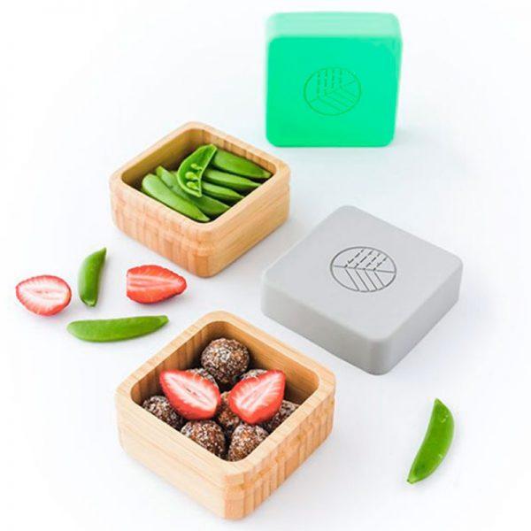 fiambreras de bambú y silicona Eco Rascals