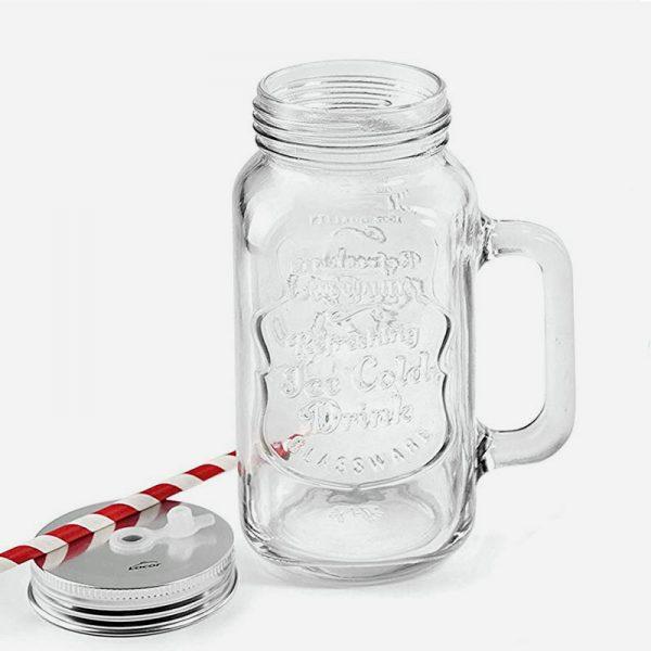 jarra de cristal con tapa de 500ml