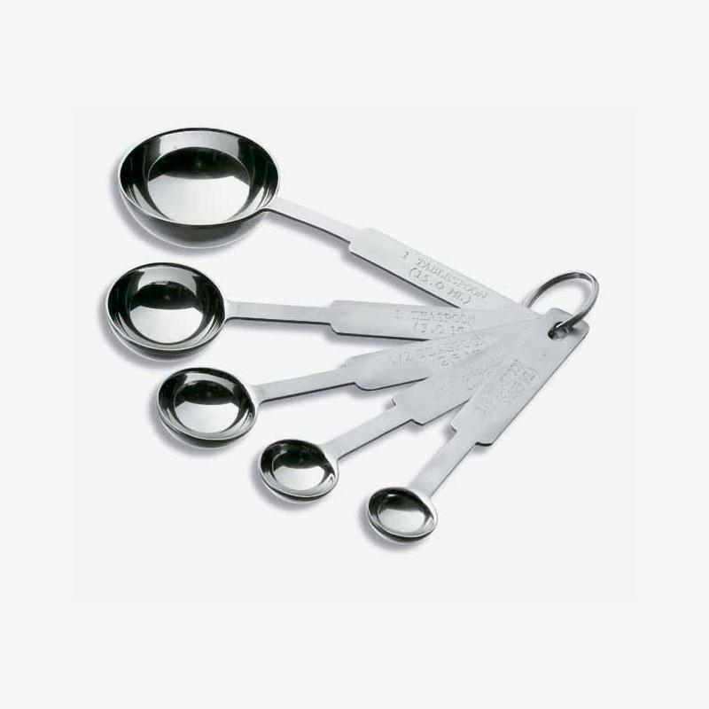 juego de 5 cucharas medidoras de acero inoxidable