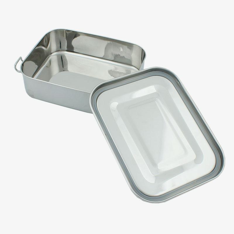 lunch box hermética abierta