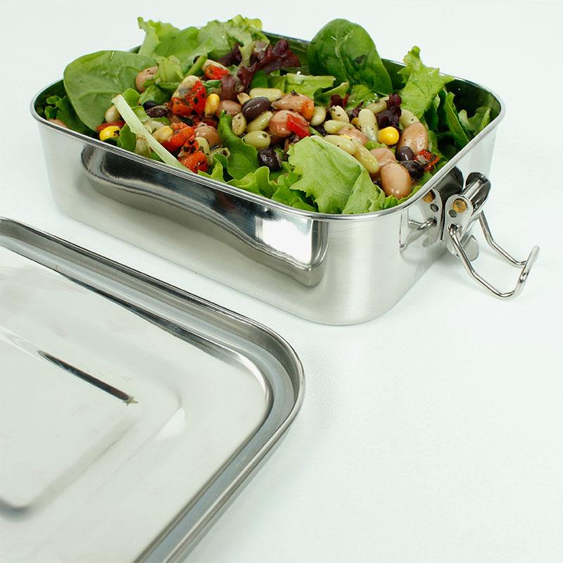 lunch box hermética con comida