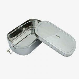 lunch box de acero inoxidable extra grande abierta