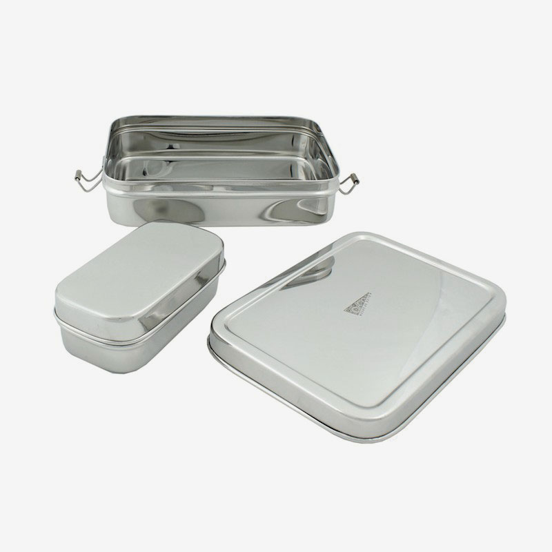 lunch box rectangular abierta