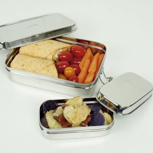 lunch box rectangular con comida