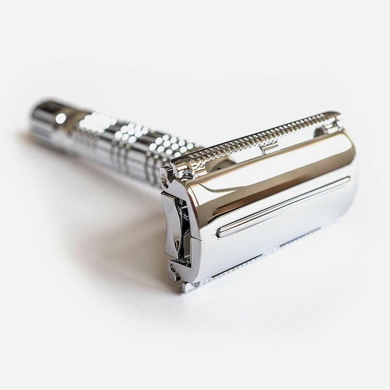 maquinilla de afeitar apertura mariposa silver